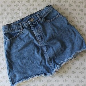 Brandy Melville Jean Miniskirt